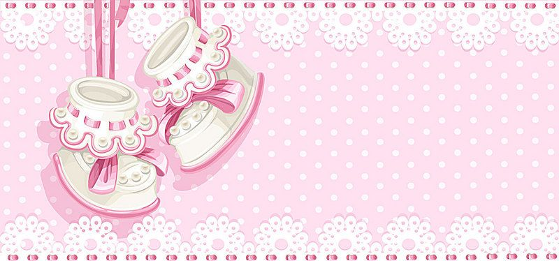 Cute Pink Ying Infant Party Banner Vector Cute Pink