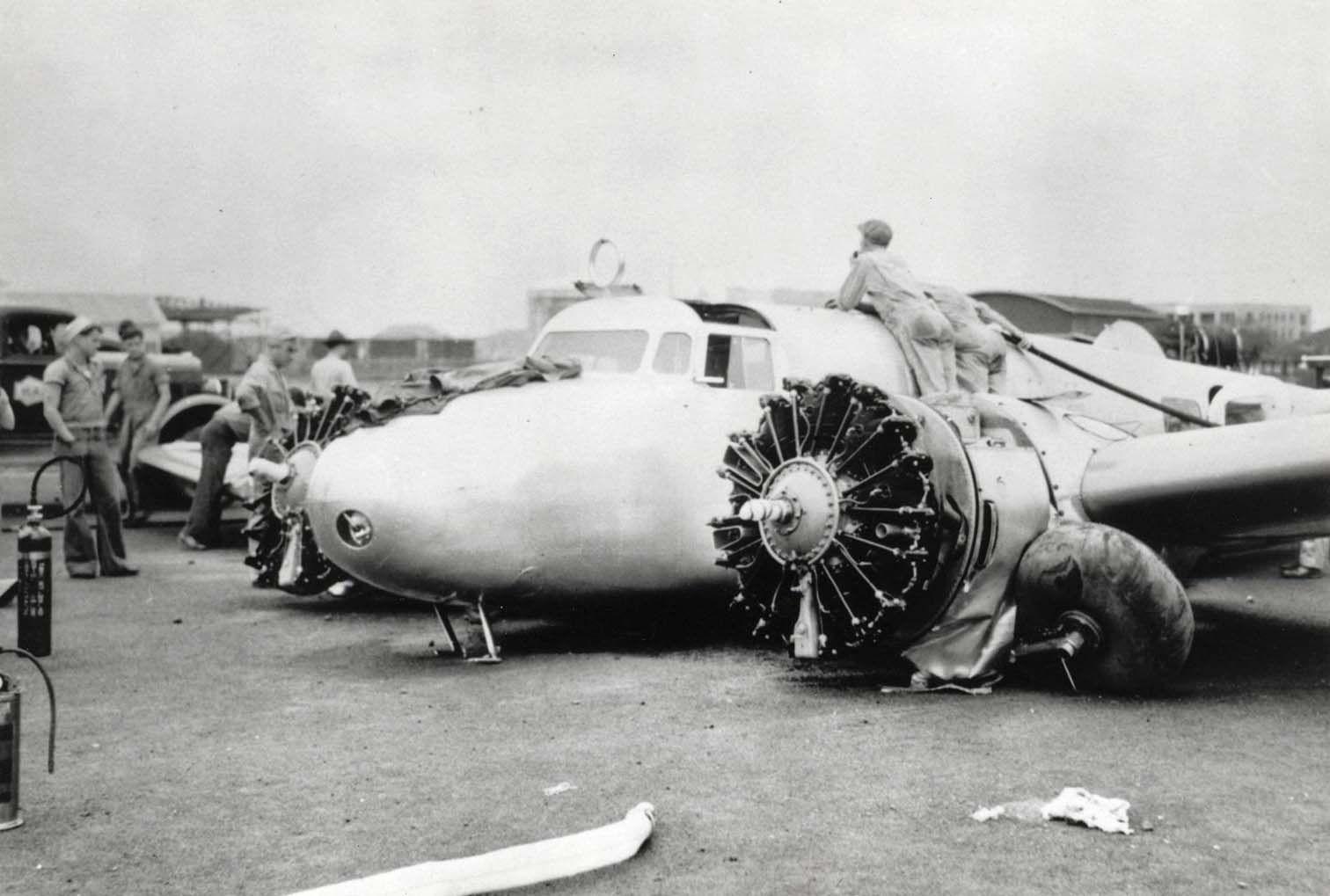 Amelia Earharts Lockheed Electra crash in Hawaii on March