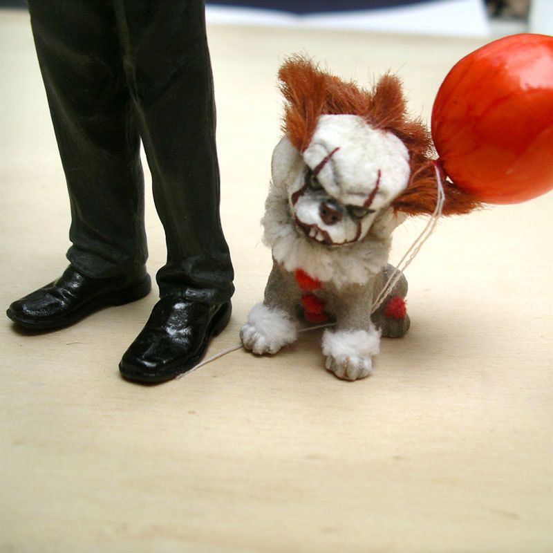 Ooak Dog Fantasy Creature Horror Pennywise It Halloween Clown Art
