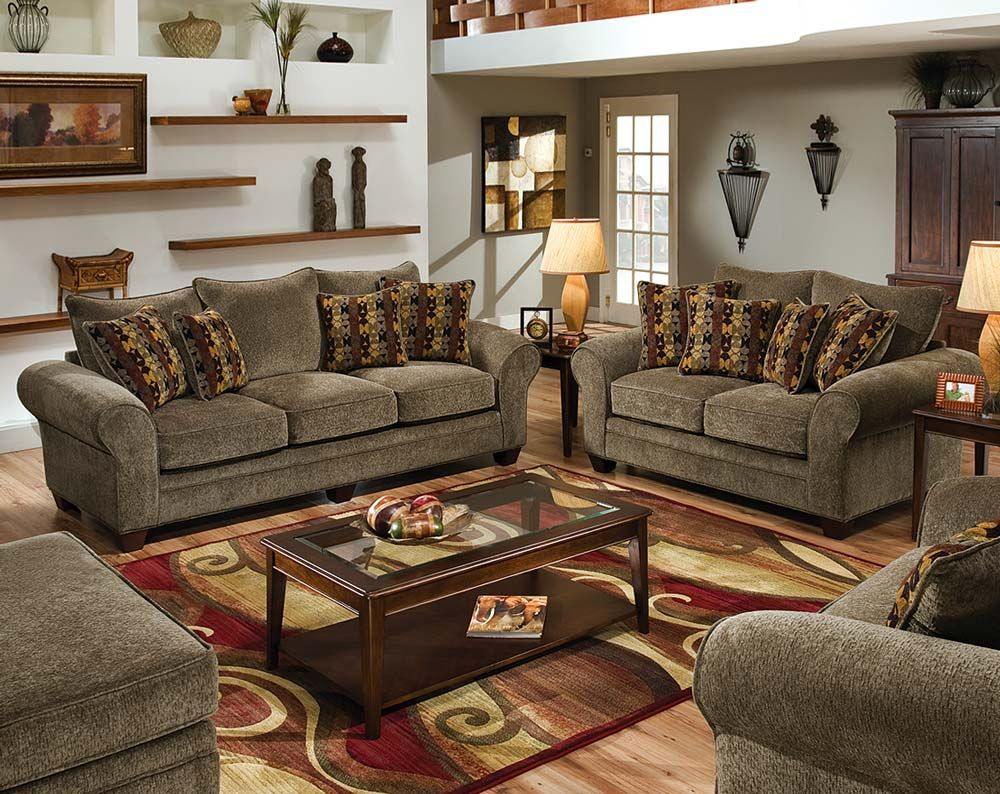 Soft, Gray Couch Set | Masterpiece Mushroom Sofa And Loveseat