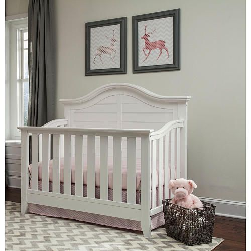 Storkcraft Thomasville Kids Southern Dunes Lifestyle 4 In 1 Convertible  Crib   White