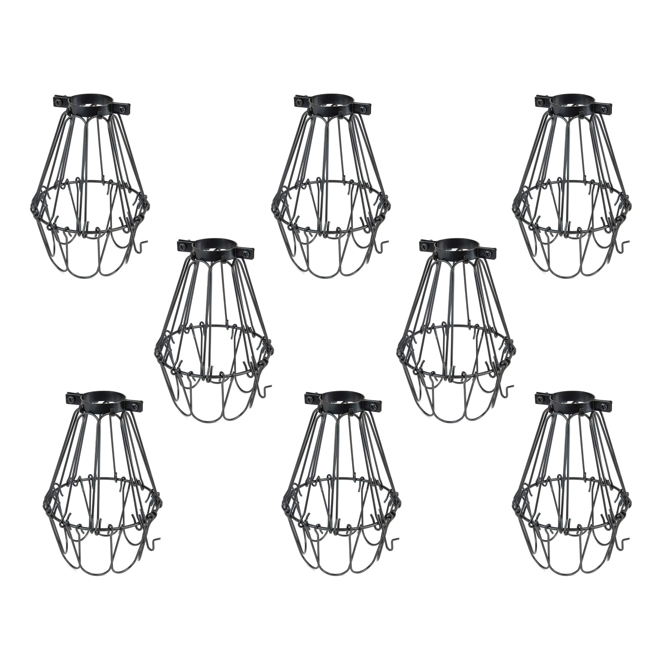 Rustic State Lampa Small Light Cage Metal Lamp Shade Black Set Of 8 In 2020 Metal Lamp Shade Metal Lamp Metal Lighting