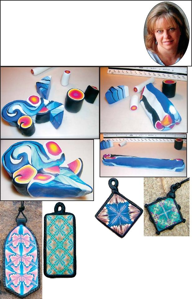 My polymer clay Kaleidoscope Tile Pendant tutorial published in PolymerCafe…