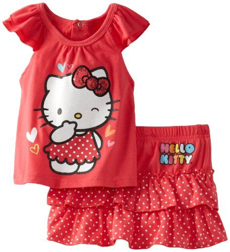 10eb7ac34 Hello Kitty Baby-girls Infant On Skirt Set, Paradise Pink, 12 Months ...