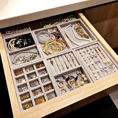 Photo of BOGO30OFF DIY Jewelry Drawer Organization Velvet Storage Trays    eBay