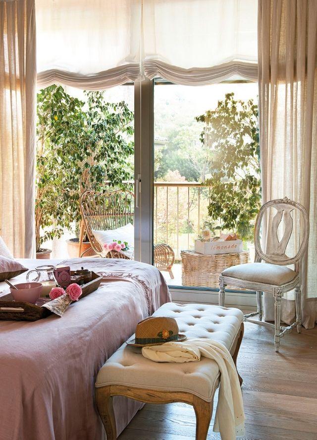 schlafzimmer ideen gestaltung-shabby-chic-vintage-moebel-stuhl - stuhl für schlafzimmer