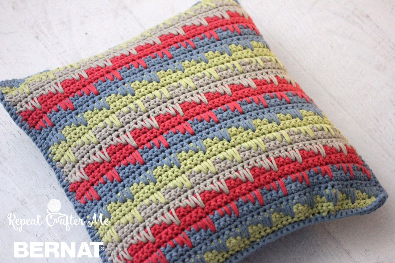 Reversible Spike Stitch Pillow Cover | Crochet/Knitting | Pinterest ...