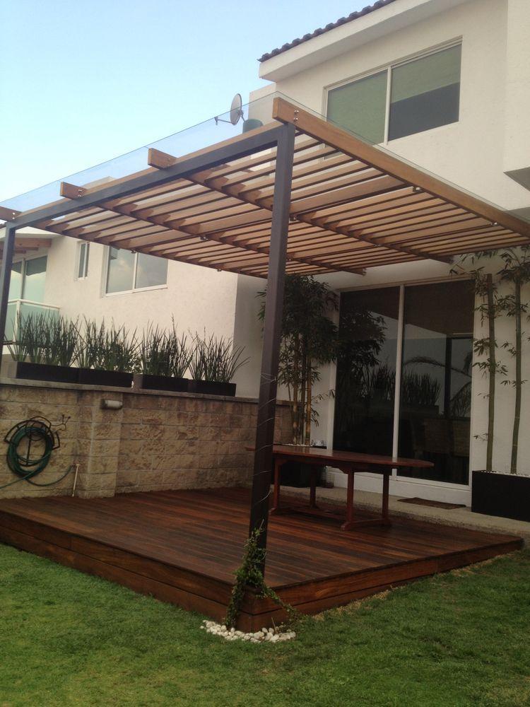 Pin de mario pleitez en home pergola patio patio roof y for Pergola policarbonato
