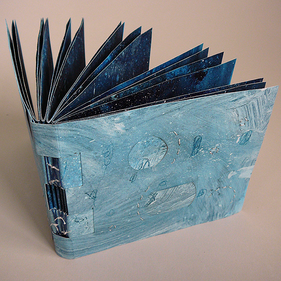 Making Handmade Books: Salted Stars on a Painted Sky