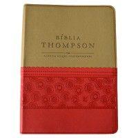 Biblia Thompson Feminina Vermelho E Bege Biblia Estudo