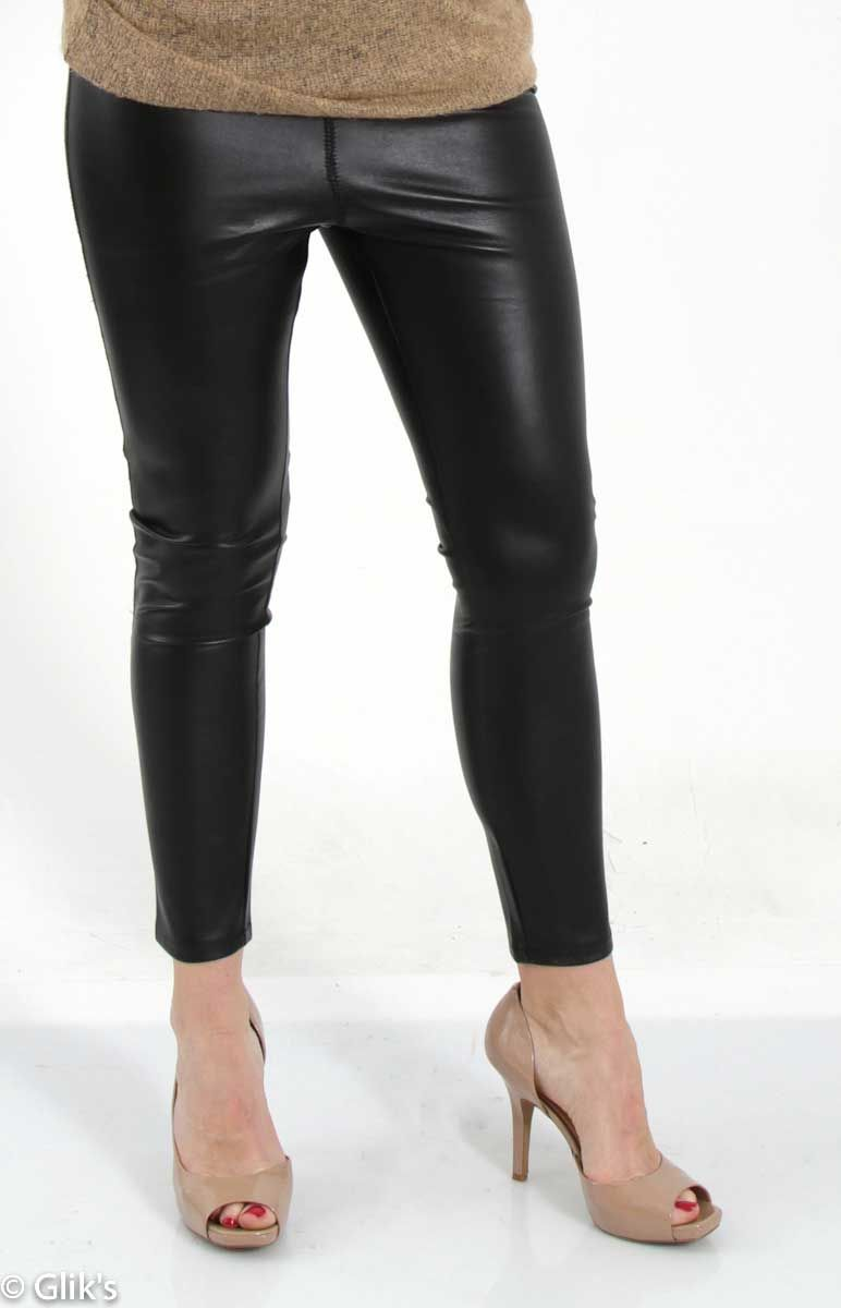 a373e6866fb8d Honey Punch Pleather Fleece Lined Leggings IP6241C | Fashion ...