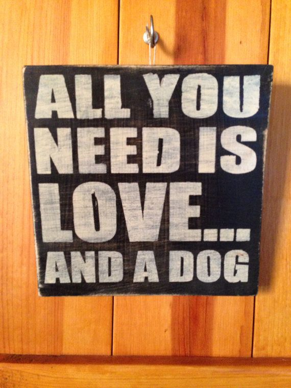 All you Need is Love by JustADog on Etsy, $20.00