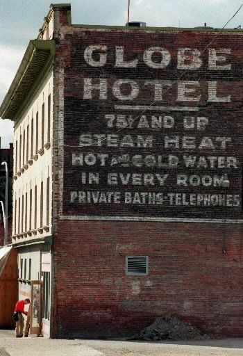 the globe closed ghost signs building signs eerie places pinterest
