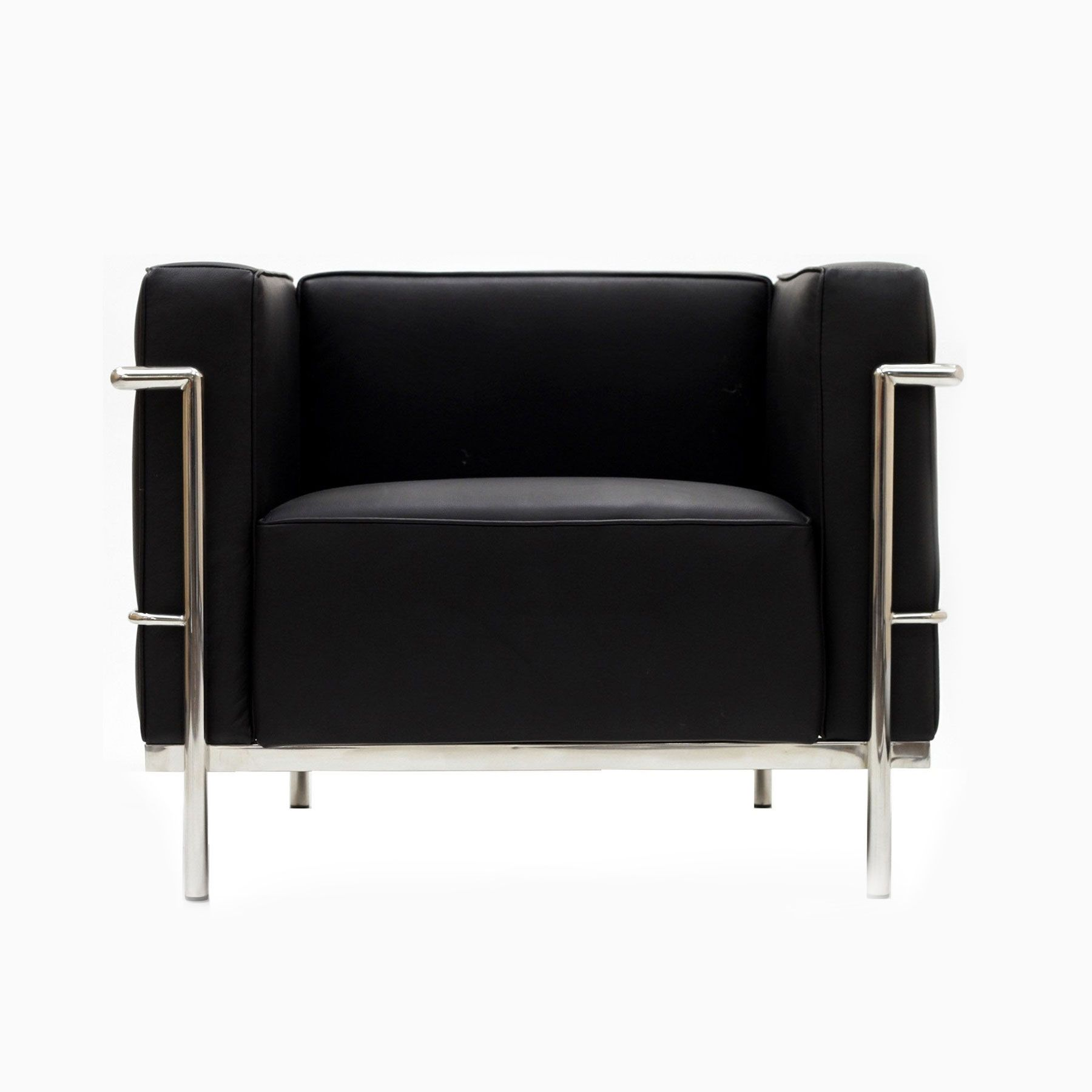 Lc2 Le Corbusier Cassina Occasion large modern cube chair in black | dotandbo (with images