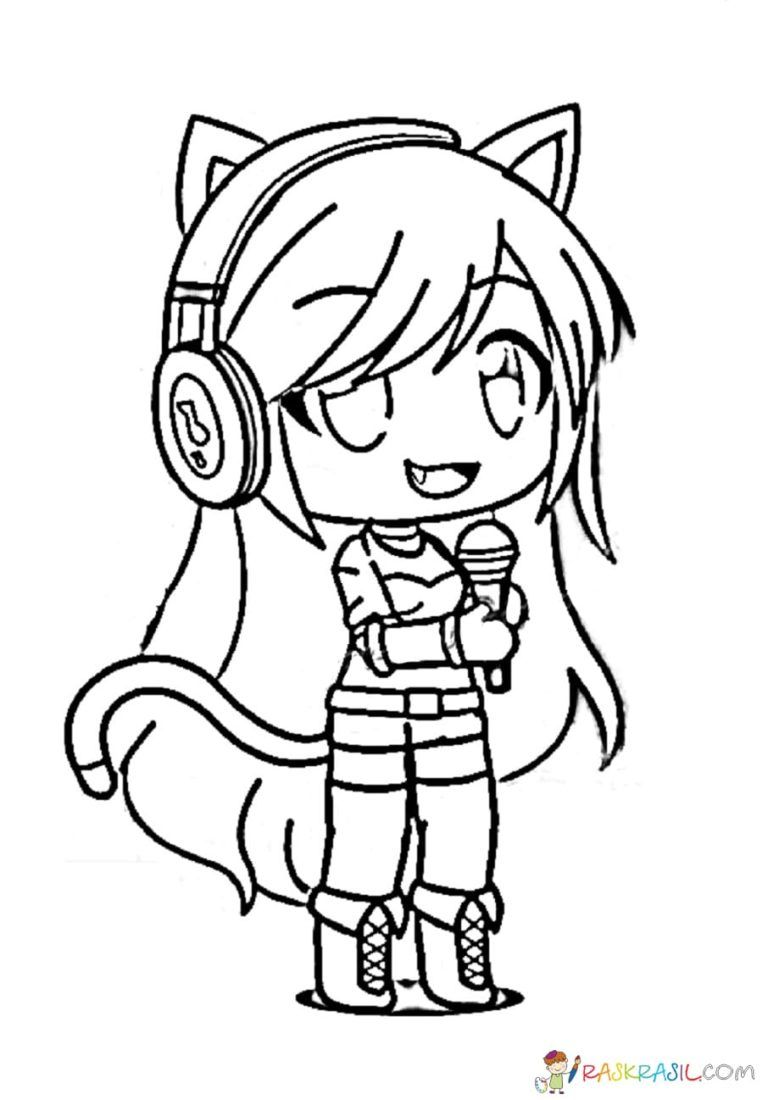 Gacha Life Coloring Pages Unique Collection Print For Free In 2020 Cute Animal Drawings Kawaii Cute Coloring Pages Cute Anime Chibi