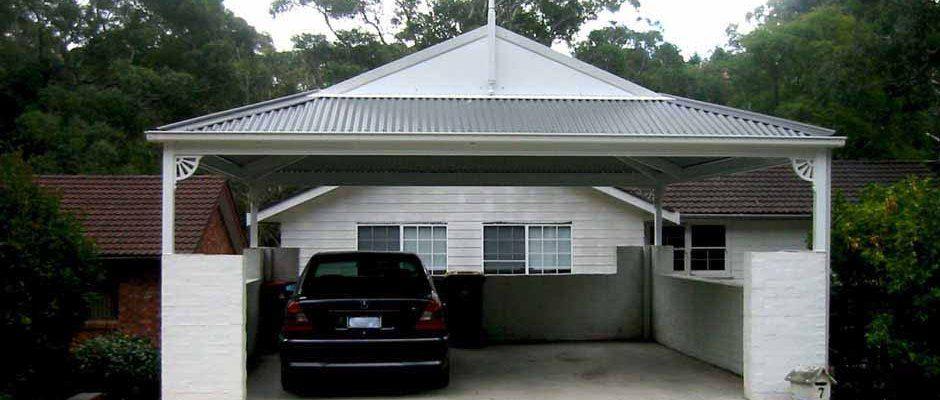 Double Single Carports, Steel Carport Garage with Pergola