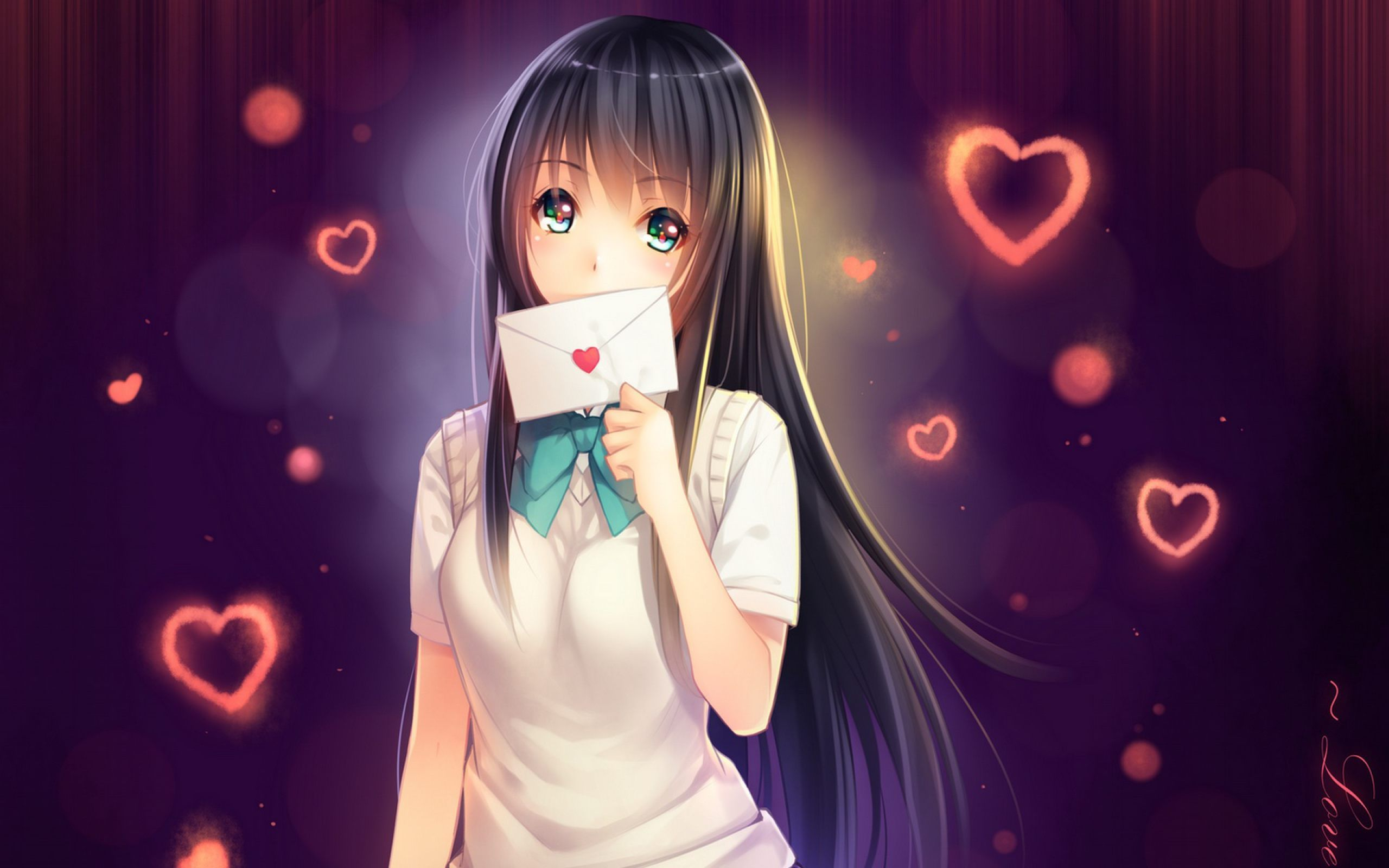 anime love wallpaper picture music girl love cute hd