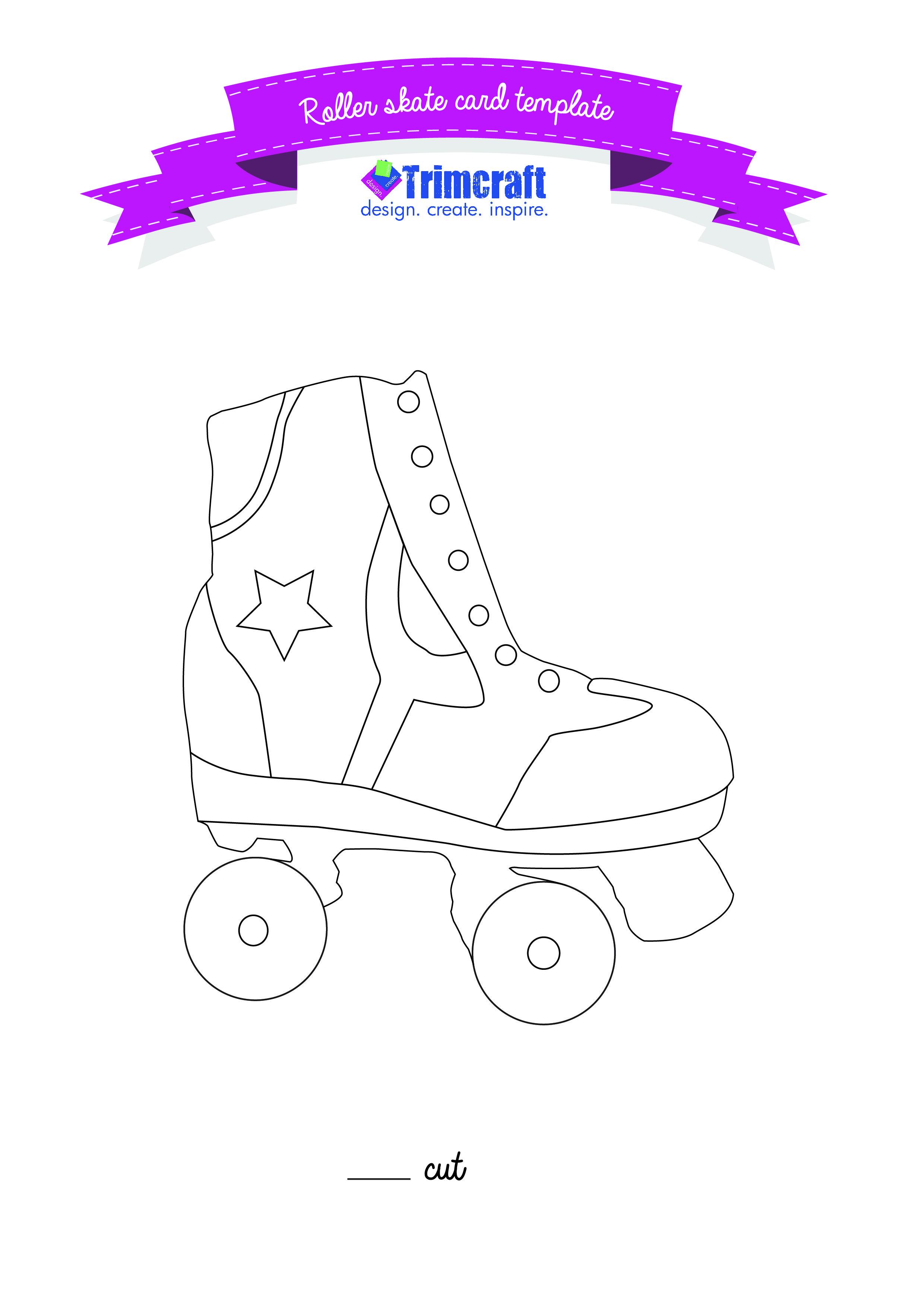 Roller skates for free - Roller Skate Template Card Http Www Trimcraft Co Uk