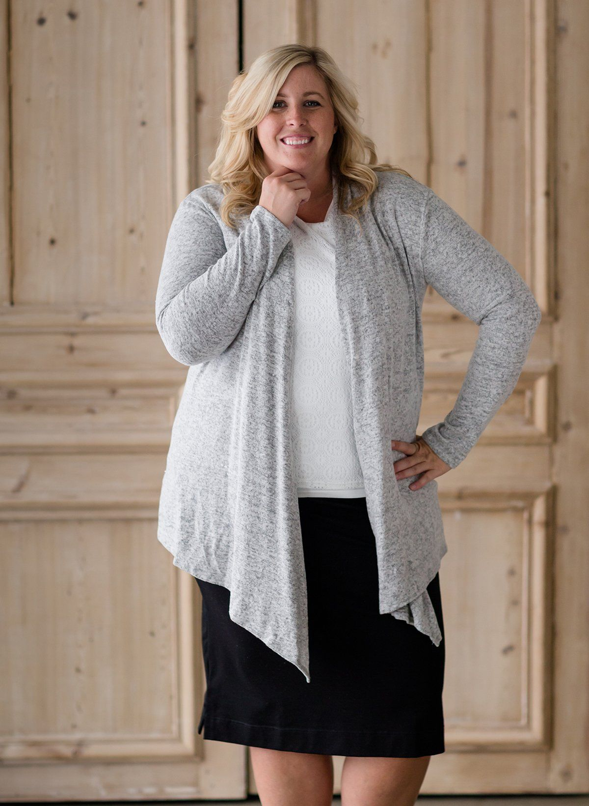 511b61ee Heathered Drape Cardigan | Inherit Clothing Company | Our Products ...