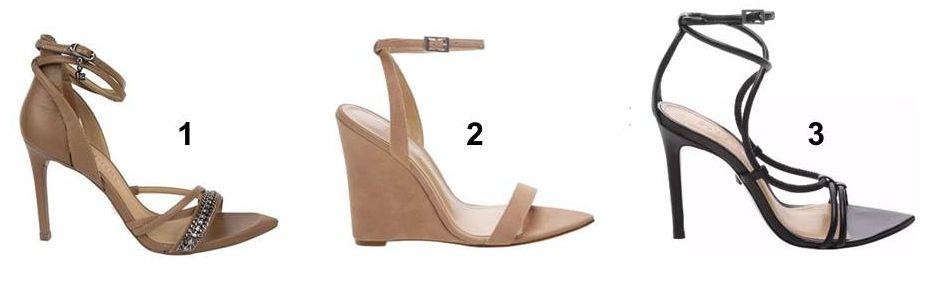 Sandalia Bico Fino Sandalia Fininho Sapatos