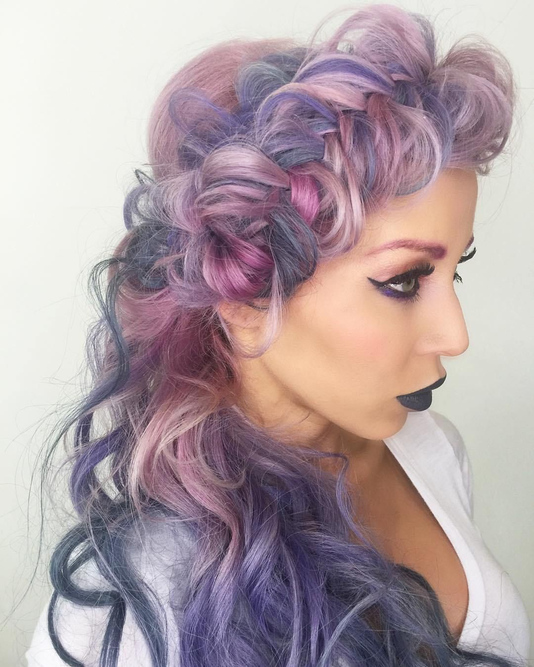swoonworthy lilac hairstyles curly braided hairstyles pastel
