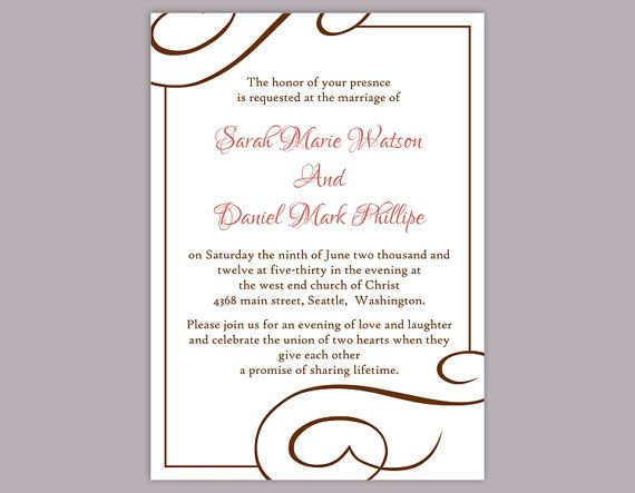 Wedding Invitation Template Download Printable Wedding Invitation - free printable wedding invitation templates for word