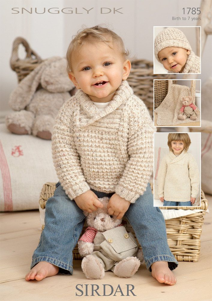 Sweater, Hat and Blanket in Sirdar Snuggly DK - 1785   Tejido, Bebe ...