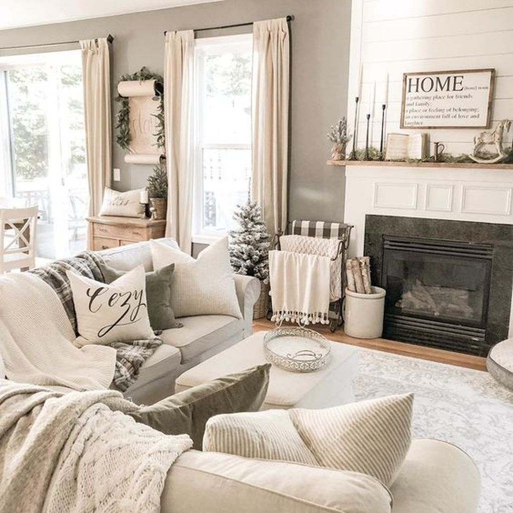 50 Awesome Winter Simple Living Room Decor Ideas You Must Try Sweetyhomee Simple Living Room Decor Living Room Decor Rustic Farm House Living Room