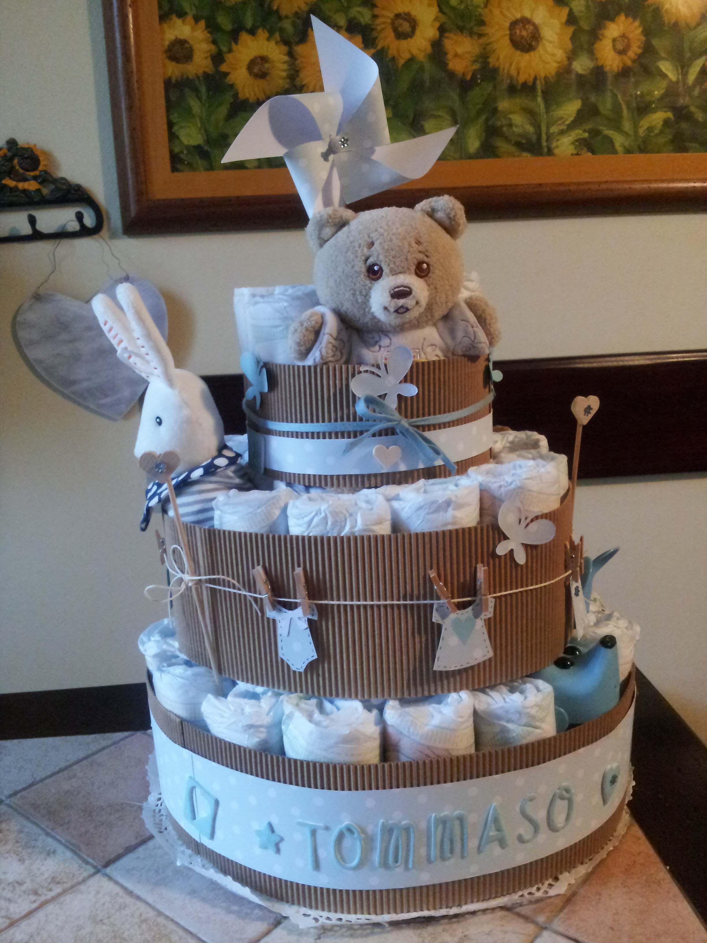 Torta Di Pannolini Torta Di Pannolini Pannolini Bambini Pannolino