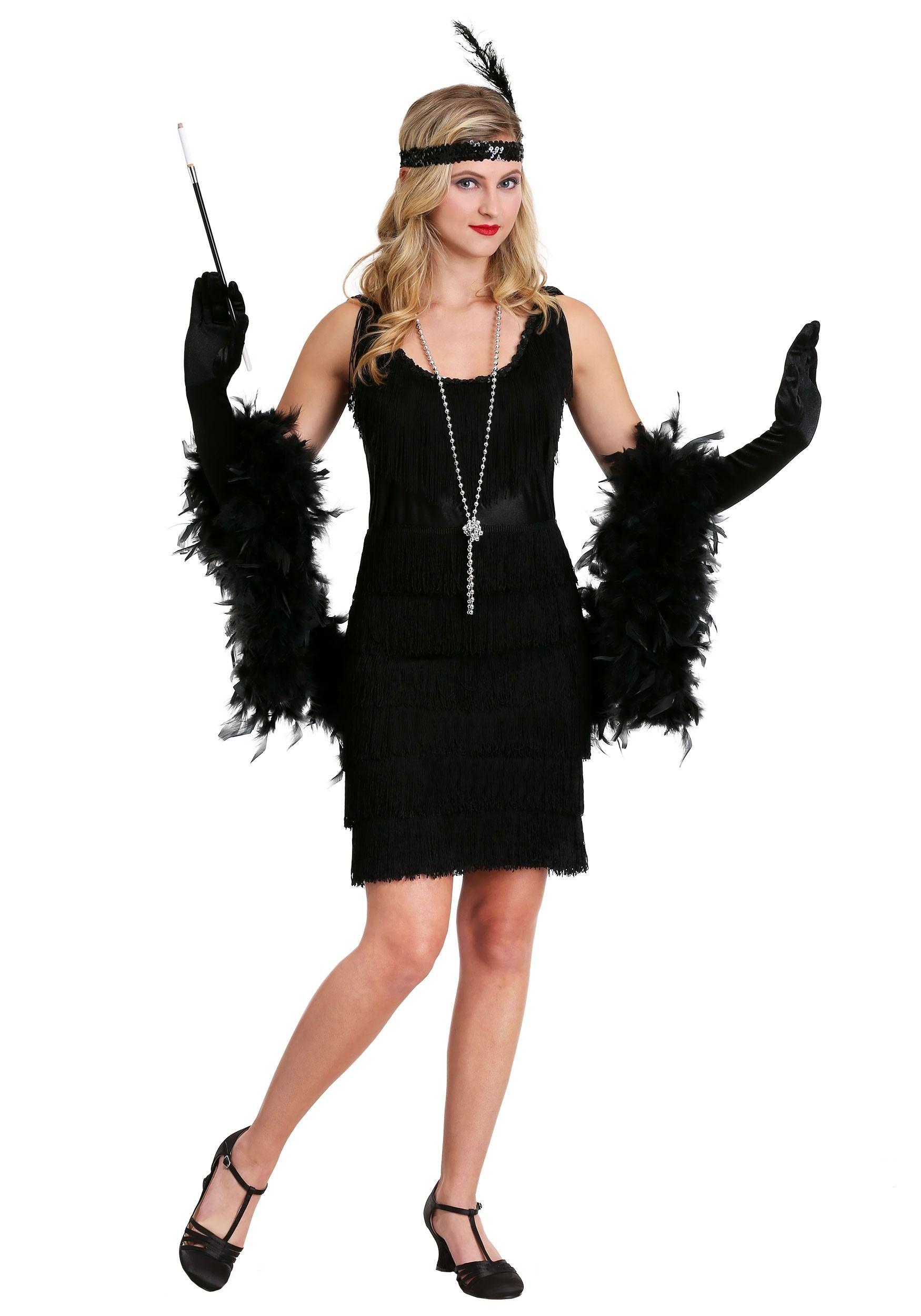 Black Fringe 1920\u0027s Flapper Costume