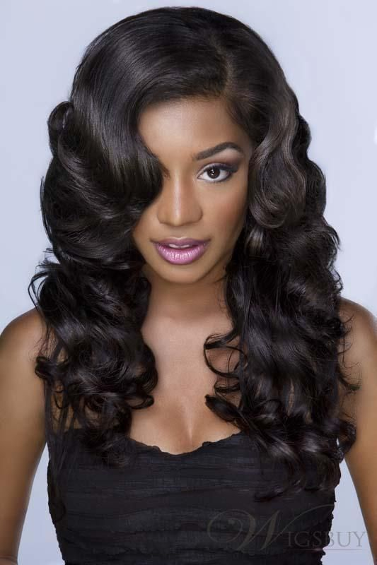 Vintage Classical Popular Long Curly Lace Front Wig 100 Human Hair 20 Inches Hair Waves Hair Styles Body Wave Hair
