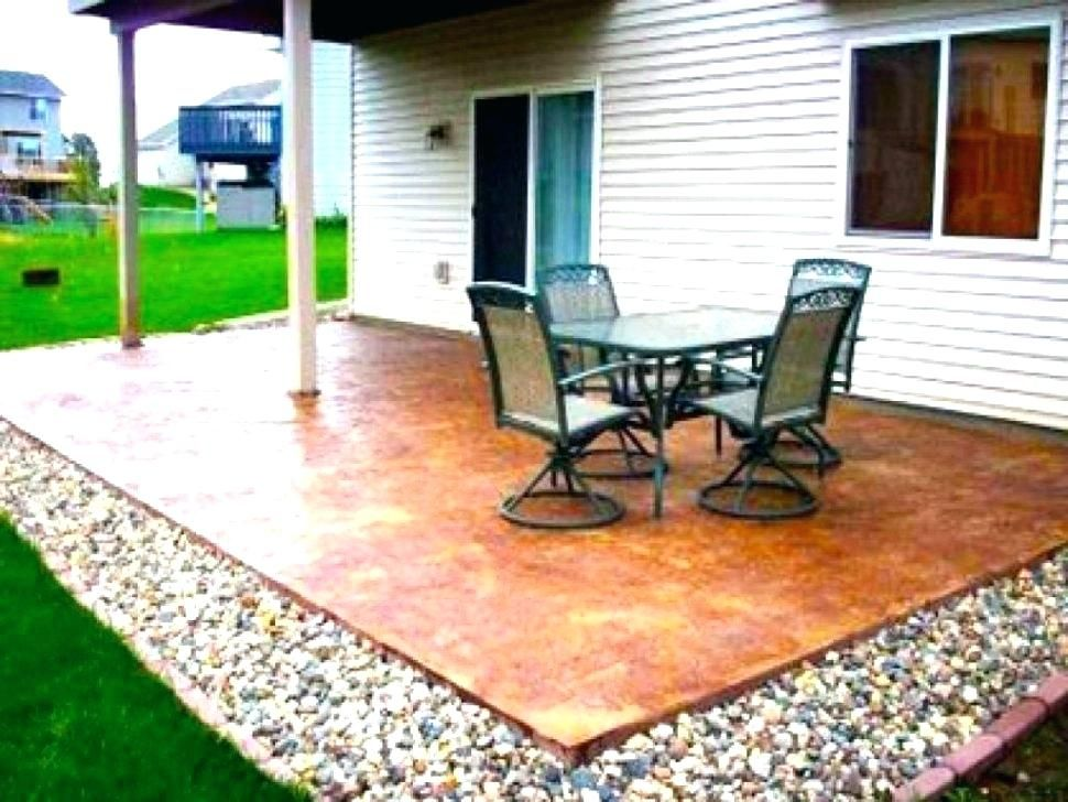 Small Cement Patio Ideas Patio Ideas To Cover Concrete Patio