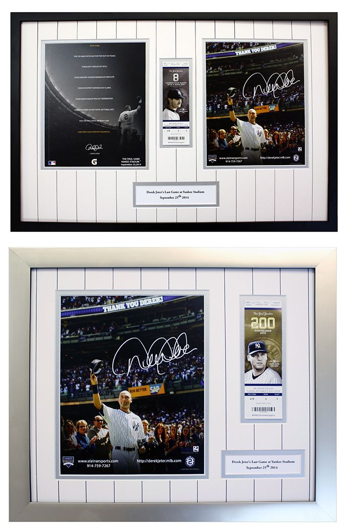 Signed Yankees Memorabilia and tickets from Derek Jeter\'s last game ...
