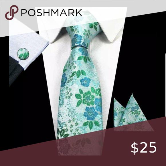 Men's 4pc Floral Silk Necktie