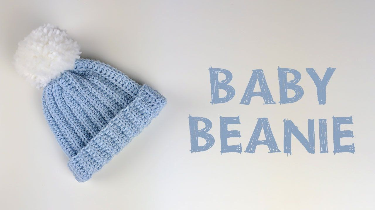 7c0a2bdca56 Very Easy Crochet Baby Beanie Tutorial
