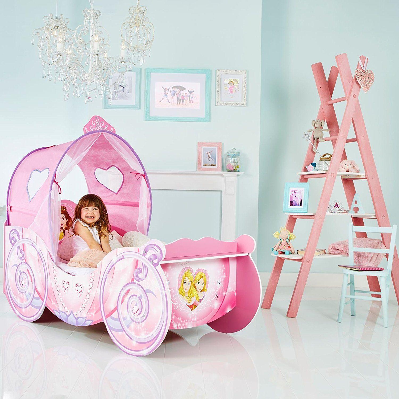 Fantastisch Kleinkinderbett Für Mädchen Im Kutschendesign Von Disney Prinzessin, Mit  Beleuchtetem Baldachin | Der Wechsel Zum