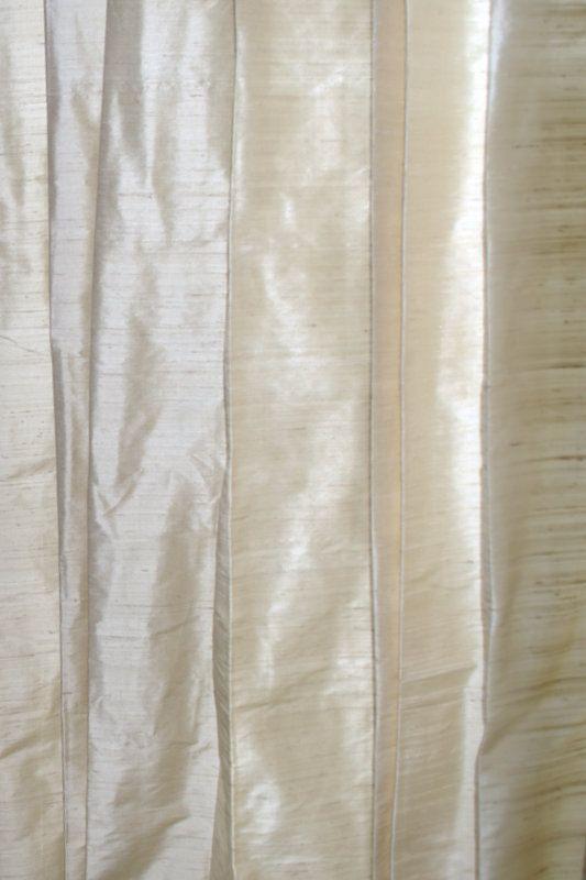 Ivory Colored Silk Drapes In Rich Raw Silk Dupioni Silk Silk