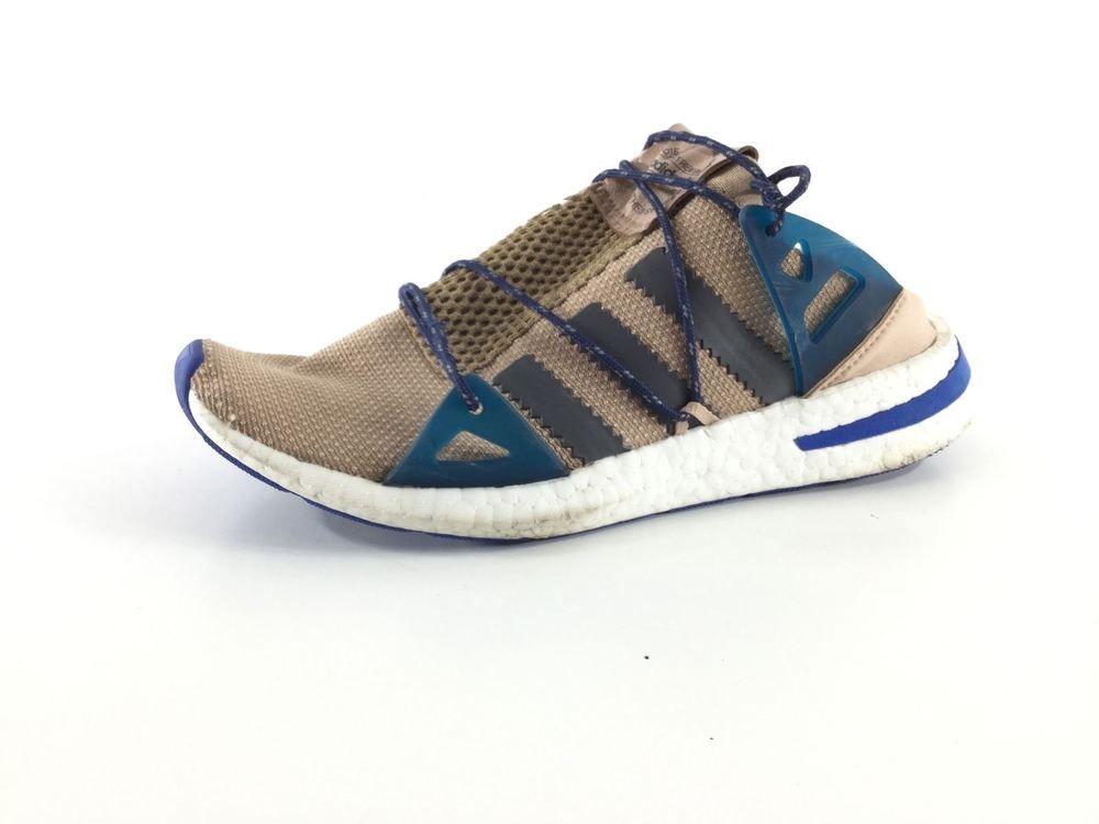 f882490562bf E25 Adidas Arkyn Colorblock Ash Pearl Gray Mesh Knit Running Sneaker Women  Sz 9M