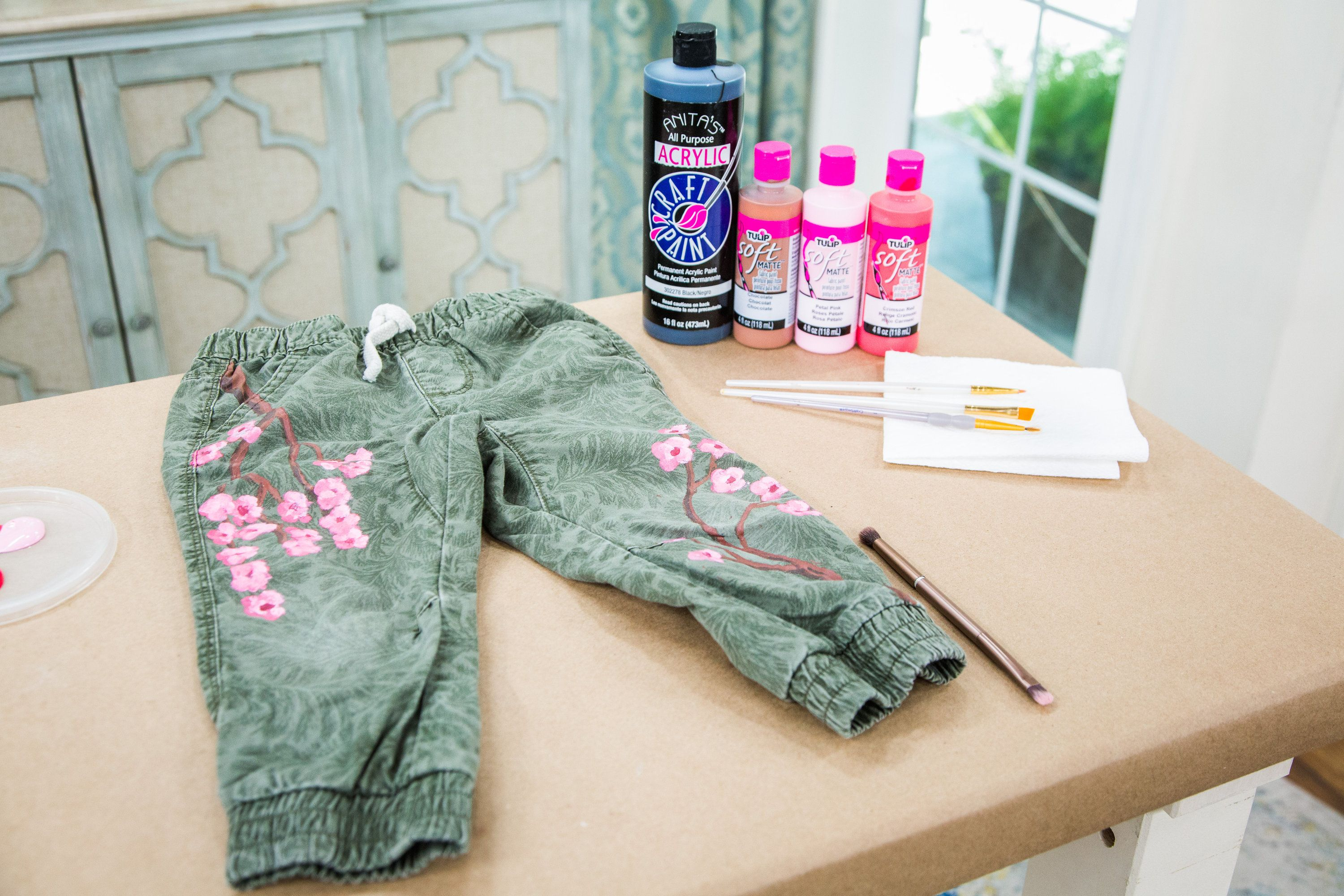 DIY Mommy and Me Cherry Blossom Pants - Home & Family ...