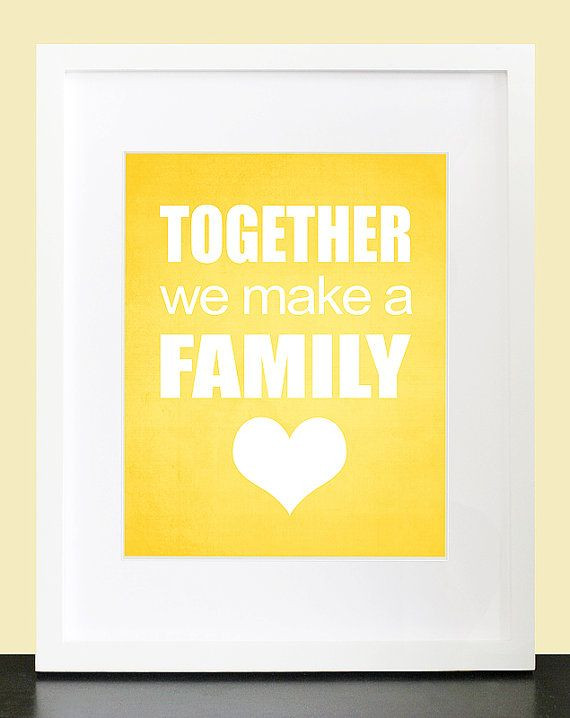 Family Wall Art. Family Poster. Together We Make A Family Wall Art ...