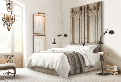Dramatic Headboard A stylish and dramatic headboard can completely ...