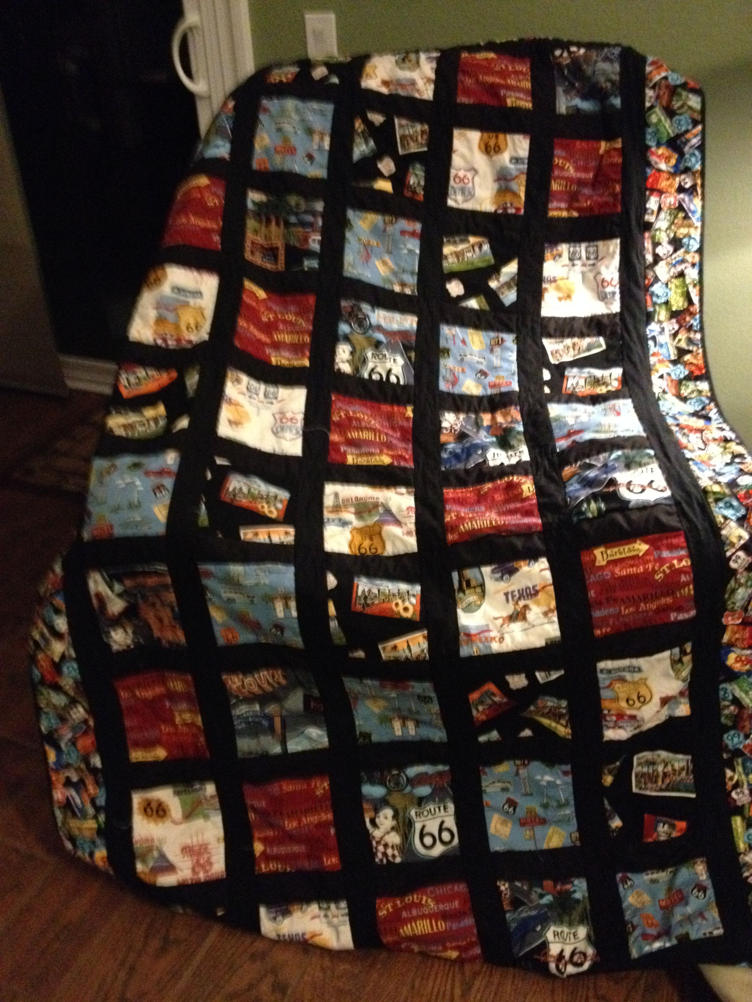 Route 66 Quilt | Things I have made | Pinterest | Route 66 and ... : route 66 quilt pattern - Adamdwight.com