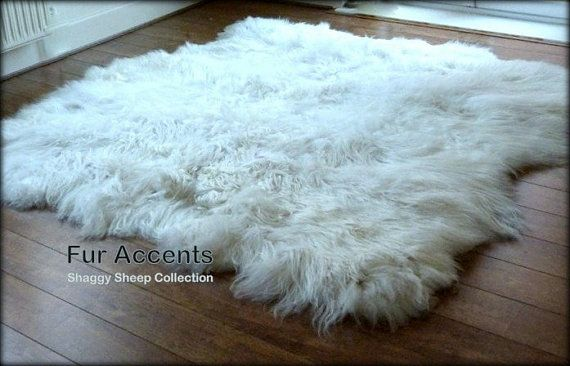 Items Similar To Truly Thick White Sheepskin Area Rug 60 X 70 Faux Fur Polar Bear Hide Accent Pelt Fake Shee White Sheepskin Rug Rugs Sheepskin Rug