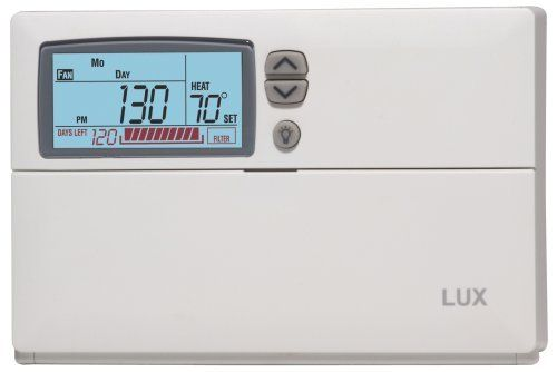 Lux Products Cag1500 Clean Cycle Clean Air Programmable Thermostat
