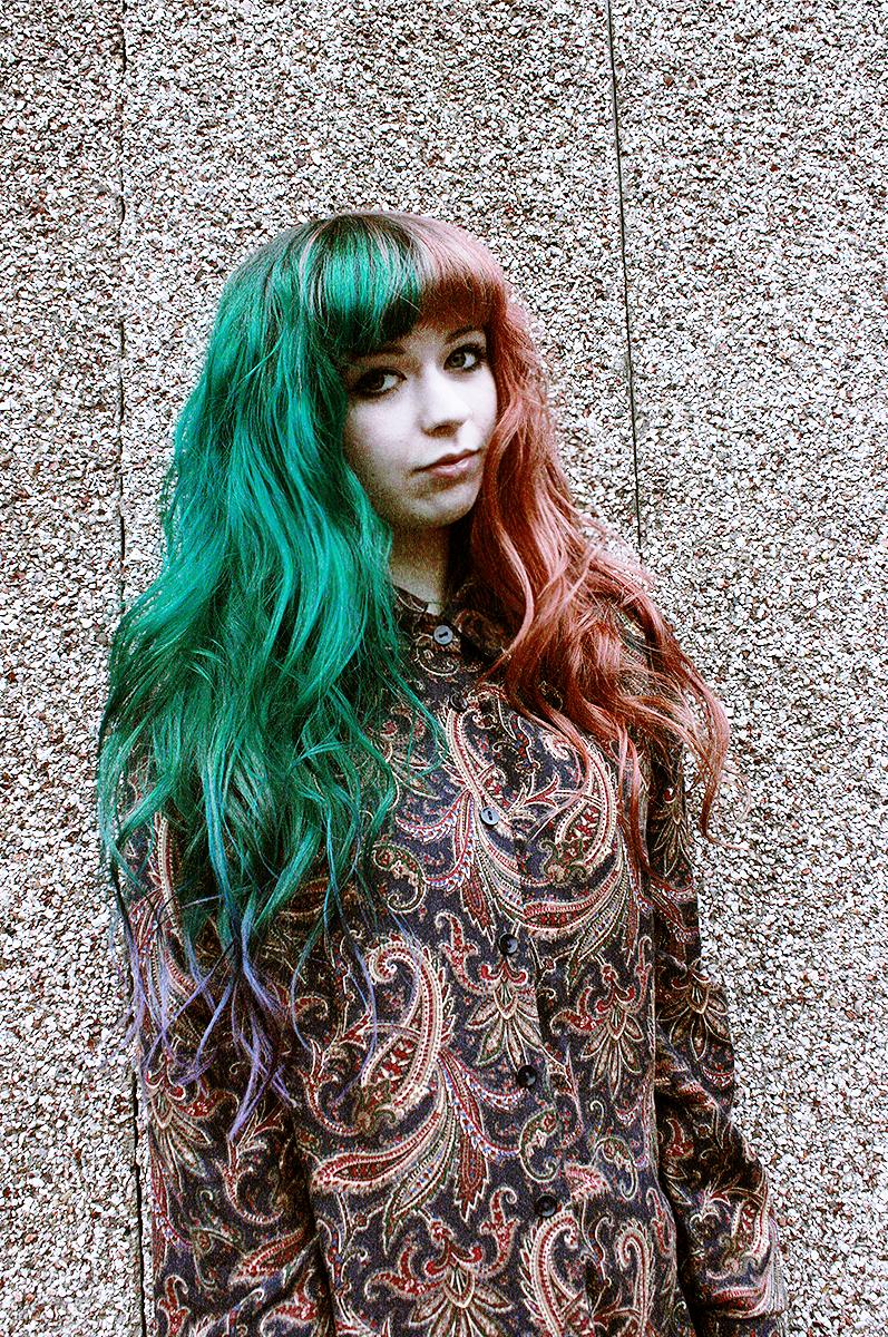 2 color half hair - Google Search
