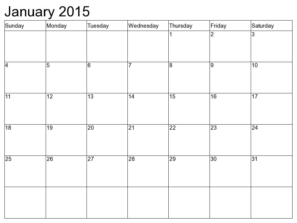 Blank Printable Calendar   Calendar