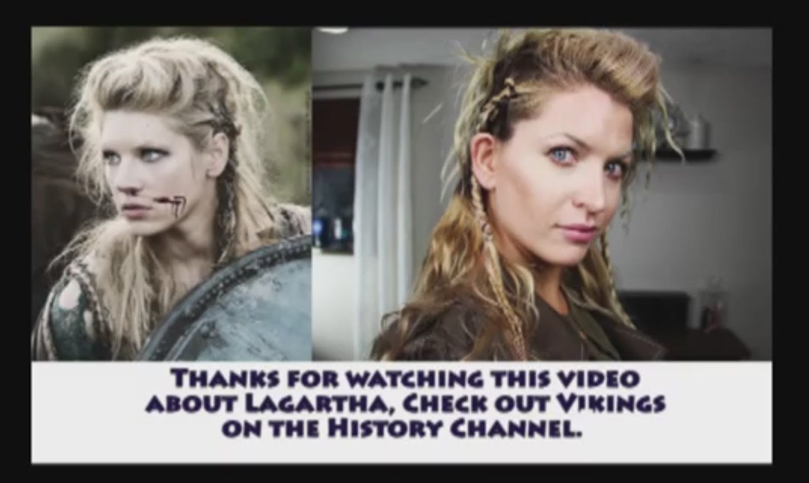 How to do Lagartha's hair in The Vikings. easy version with slept in braids before hand and a chain incorporated.