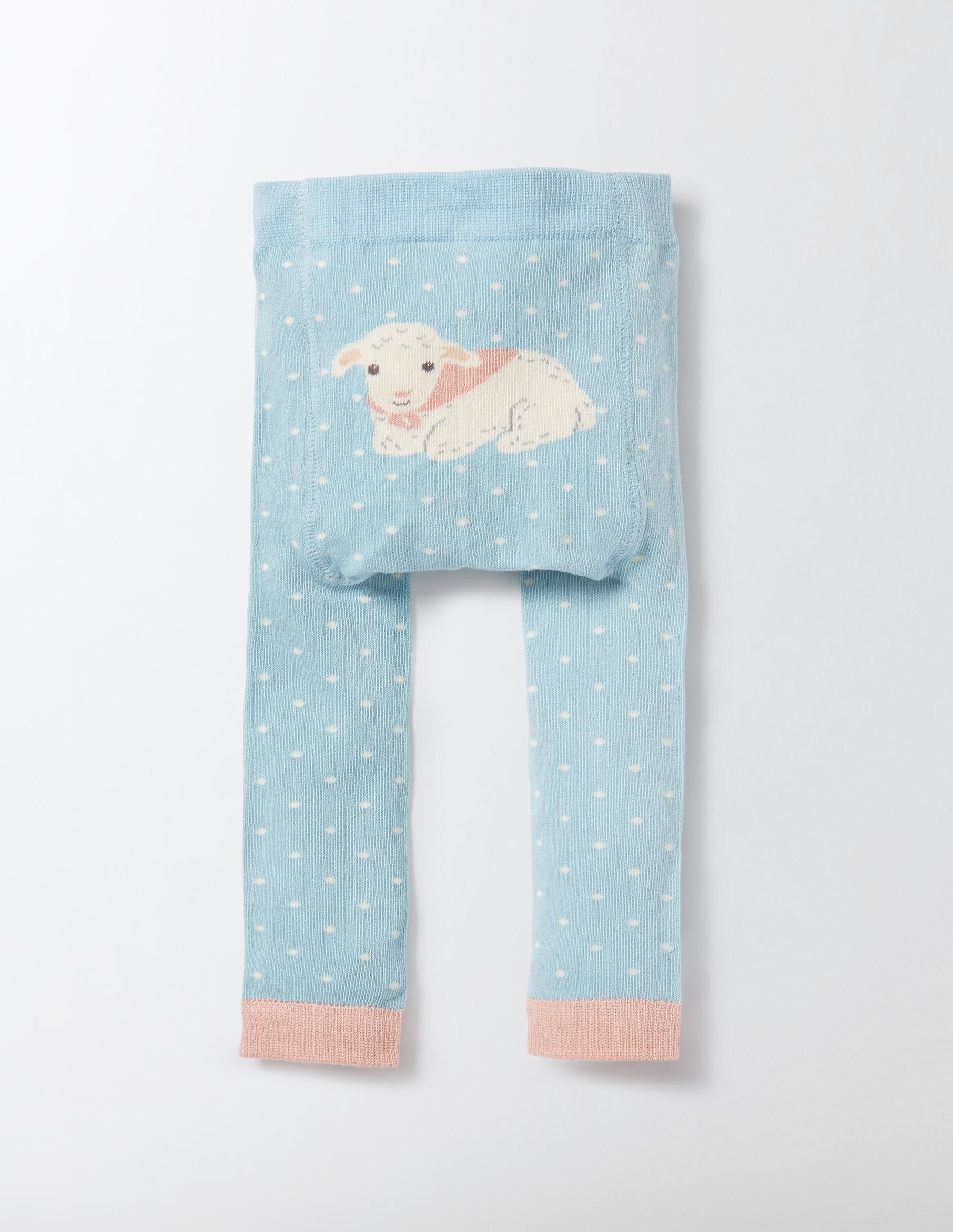0b7a631aa5497 Knitted Leggings (Mineral Blue Pin Spot) | sheepie | Baby, Baby girl ...