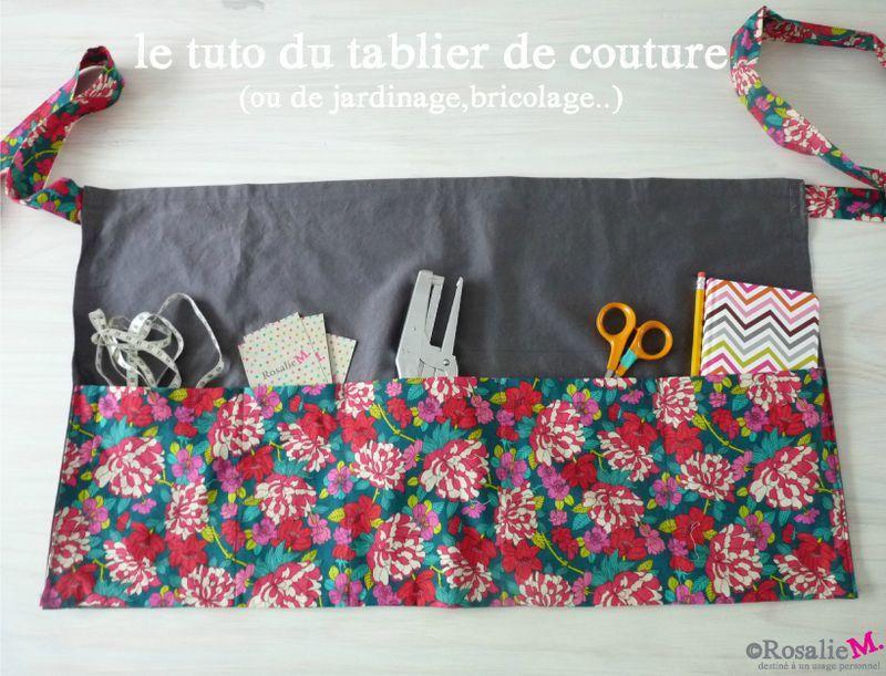 Tuto du tablier de couture ou de jardinage de bricolage dessinatrice textile et cr atrice - Tablier jardinage enfant ...