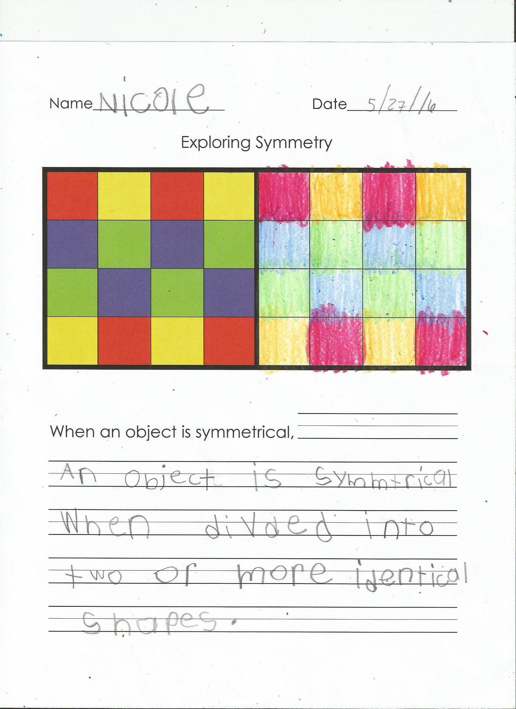 Exploring Symmetry Activity